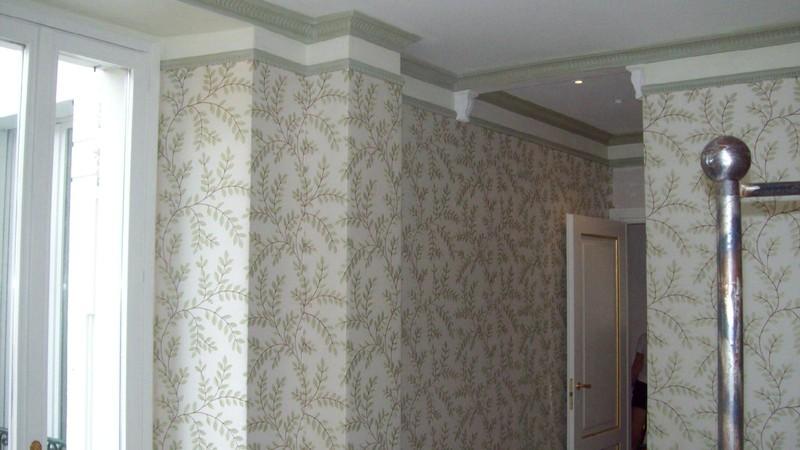 Tappezzeria tesata in stoffa ed in carta tappezzeria sironi for Tappezzeria pareti