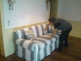 Foto divani a righe idee per il design della casa for Tappezzeria a righe